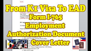 ead form i 765 application for employment authorization cover