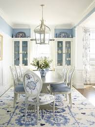 formal dining room sets with china cabinet with beach style blue