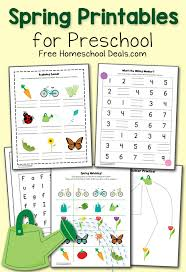 free spring printables pack for preschool instant download