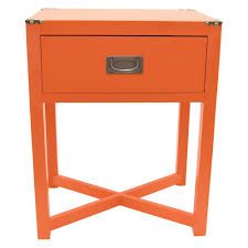 Orange Side Table Three 18 75 In X 13 5 In Orange Side Table 90493 The