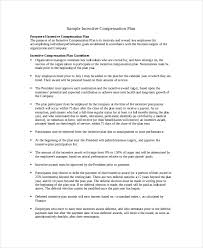 compensation plan template 8 free word document downloads