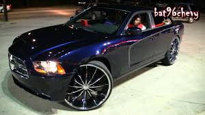 midnight blue dodge charger 2012 dodge charger lifted on 28 s 1080p hd