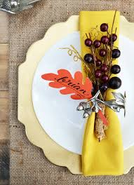 15 easy diy thanksgiving place cards ideas for thanksgiving