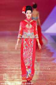 Chinese Wedding Dress Traditional Chinese Wedding Dresses Presented In Shanghai 4