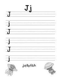 letter j trace line worksheet for 1st grade alphabet letter j