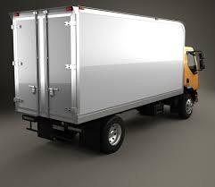 kenworth truck 2012 kenworth k370 box truck 2014 3d model hum3d
