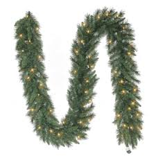 white garland shop artificial christmas garland at lowes