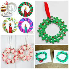 christmas wreaths to make christmas wreath craft ideas for kids crafty morning
