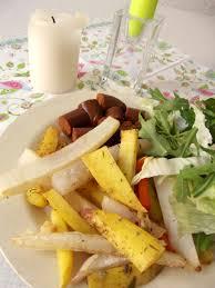 panais cuisine frites au four pommes de terre carottes panais et navets