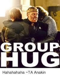 Group Hug Meme - group hug hahahahaha ta anakin meme on me me