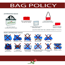 United Bag Policy by Stadium Rules And Prohibited Items Rose Bowl Stadium