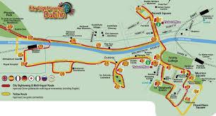 Map Ireland Dublin Sightseeing Map City Sightseeing Dublin Map Ireland