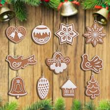 11pcs animal snowflake biscuits hanging tree