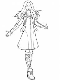 avengers scarlet witch coloring free printable coloring pages