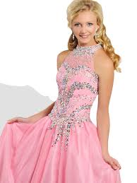 pageant dresses for ritzee tweens t811 high neck beaded a line pageant dress