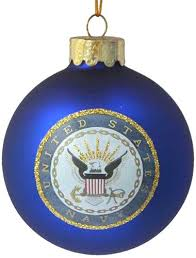 u s navy glass ornament 80mm home kitchen