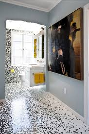 Gray And Yellow Bathroom by Interior Cool Modern Bathroom Design With Green Lemon And White