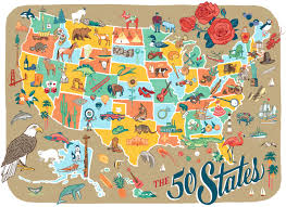 Map States by I Finished My 50 States Series Of Pictorial Maps Right Before The