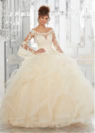 buy discount elegant tulle off the shoulder neckline ball gown