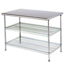 Metal Work Tables Eagle Group T2448ebw Adjustable Work Table 24 X 48 X 34 Stainless