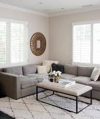 ambiance canape déco salon couleur peinture slaon blanc canapé gris tapis blanc