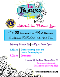 bunco party bunco party new baltimore lions club