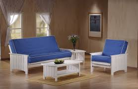 Floor Futon Chair Cottage Full Size White Futon Set By J U0026m Furniture