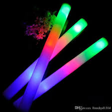 led glow foam stick colorful batons multi color light up