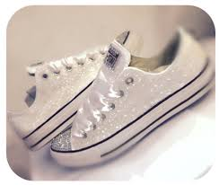wedding shoes converse womens white ivory glitter converse bling shoes wedding