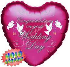 congratulations on your wedding day congratulations on your wedding day holographic foil balloon