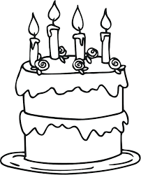 marvelous outstanding birthday cake coloring page image cute pages