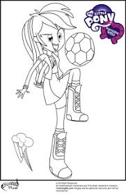 mlp equestria rainbow dash football coloring pictures