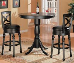 Dining Room Chairs Dallas Coaster Lathrop Classic Round Bar Table With Pedstal Base