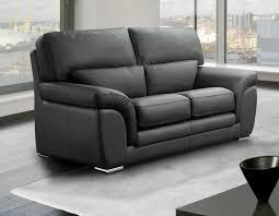 canap 2 places cuir noir cloe canape 2 places gris fonce en cuir recycle