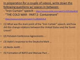 Significance Of Iron Curtain Speech How Did The Invasion Of Afghanistan Affect Usa Ussr Relations