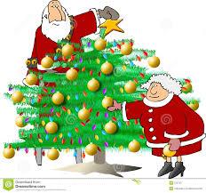trimming the christmas tree christmas lights decoration