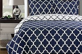 Twin White Comforter Set Brilliant Navy And White Meridian 3pc Twin Twin Xl Comforter Set 100 For Navy Blue And White Comforter Sets 500x329 Jpg