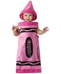 halloween baby costumes 0 3 months crayola tickle me pink bunting baby costume crayola costumes