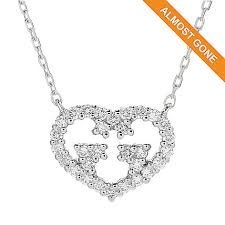 white gold hearts necklace images Gucci quot love britt quot 18k white gold 18 quot 0 19ctw diamond heart