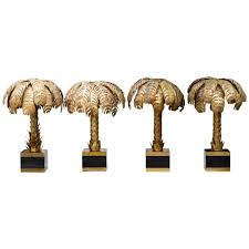 Palm Tree Bedroom Furniture by Set Of Four Palm Tree Table Lamps By Maison Jansen At 1stdibs