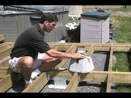 concrete deck blocks for 6x6