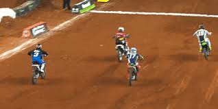 motocross drag racing clint bowyer wins supercross race and immediately faceplants