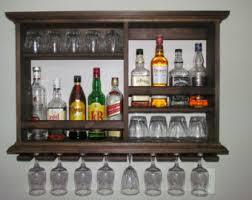Glass Bar Cabinet Liquor Cabinet Etsy