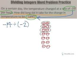 multiplying and dividing integers word problems youtube