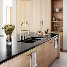 light wood kitchen cabinets with black countertops 75 beautiful galley kitchen with light wood cabinets