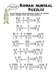roman numeral worksheets with answers worksheets and math