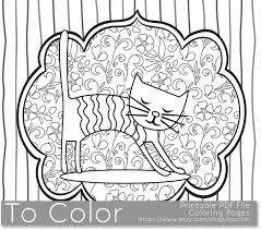 printable whimsical cat coloring page for adults pdf jpg