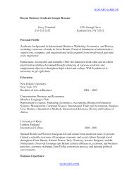 Resume Templates For Recent College Graduates Cover Letter Recent College Graduate Resume Samples Recent College