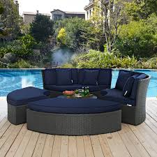 modway eei 1984 chc nav set sojourn outdoor patio daybed in poly