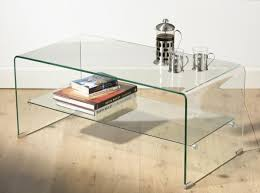 glass coffee table with glass shelf 13 incredible glass top coffee table designs for tables plan 15